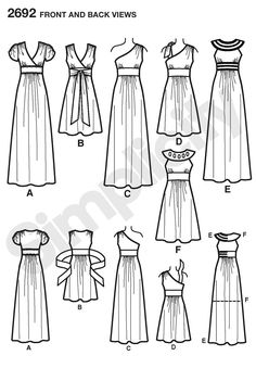 This pattern has the one shoulder styles I love and is VERY close to the fit I want too! Just minor changes to this pattern would get it there, I think.