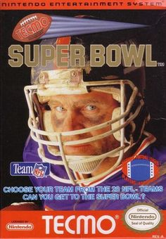 Tecmo Super Bowl for the Nintendo Entertainment System (NES), the greatest football video game of all time, if not the greatest video game of all time. Vintage Video Games, Classic Video Games, Retro Video Games, Vintage Games, Retro Games, Vintage Toys, Football Video Games, Sports Games, Nes Games