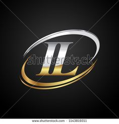 initial letter NL logotype company name colored gold and silver swoosh design. isolated on black background. Company Names, Company Logo, Free Graphic Design Software, Colored Gold, Initials Logo, Initial Letters, Buick Logo, Black Backgrounds, Royalty Free Stock Photos