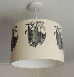 30cm lampshade with bats - gothic - nature - wildlife - Kettle of Fish