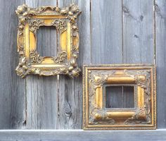 Baroque GOLD Picture Frames Ornate Photo Frame by FrameItbyJill, $55.00, several things like this- especially for girl Mirror Photo Frames, Ornate Picture Frames, Wall Mirror, Mirrors, Antique Wall Decor, Antique Frames, Nursery Frames, Nursery Art, Nursery Ideas