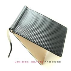 excuve  Luxury Money Clip Bifold Billfold ID Carbon Fabric Classic Wallet G12
