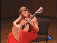 Ana Vidovic performing Isaac Albeniz's Asturias. MAD SKILZ. This'll be me in another 19,984 hours of practice. Well, minus the red dress. Although I have been told red is my power color.