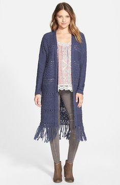 Sun & Shadow Long Cardigan (Juniors) available at #Nordstrom