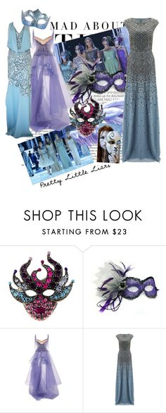 """Pretty Mask"" by patmorr ❤ liked on Polyvore featuring Kershaw, Masquerade, Zac Posen, Adrianna Papell and Versace"