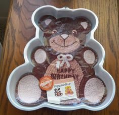 Huggable Bear- Wilton Cake Pan - #2105-21943  Year 1987 #Wilton