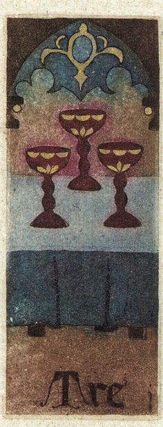 Three of Cups - Court of Tarot by Anna Maria D'Onofrio