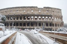 colosseum in snow