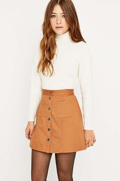 Urban Outfitters – A-Linien-Rock aus Twill