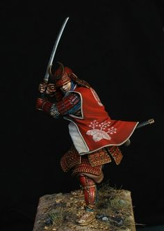 Samurai figure in full armour, painted by KonstantinPinaev.
