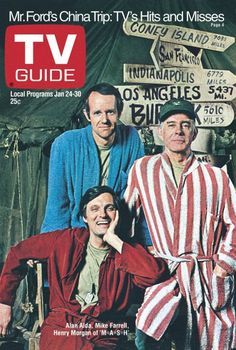 TV Guide January 24, 1976 - Mike Farrell, Harry Morgan and Alan Alda of M*A*S*H*