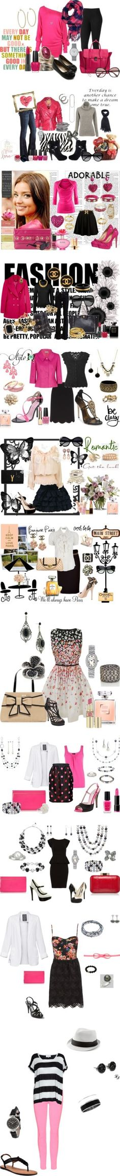 """Pink & Black Combinations !!"" by fashiongirl-26 on Polyvore"