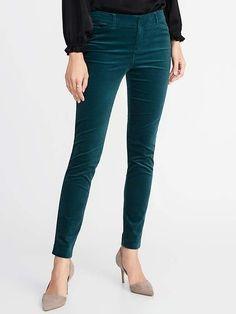 Teal Velvet Pants