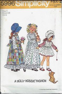 Girls Holly Hobbie Dress and Pinafore in by DawnsDesignBoutique, $9.99