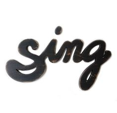 music sign - sign sign - wood wall phrase - painted cottage style - lamp black sign