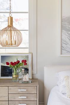brass cage lighting for the bedside