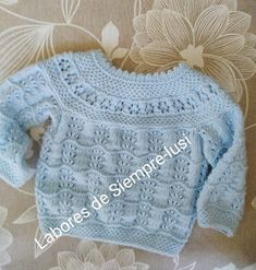 Color Celeste, Knitting For Kids, Pullover, Sweaters, Fashion, Recipes, Baby Sweaters, Short Shorts, Jackets