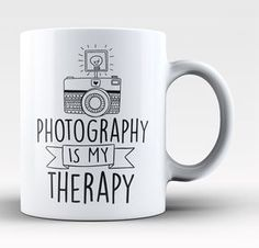 Photography is my therapy! The perfect coffee mug for any proud photographer! Order yours today. Take advantage of our Low Flat Rate Shipping - order 2 or more and save. - Printed and Shipped from the Oooh I want I need I must have Dslr Photography Tips, Quotes About Photography, Photography Gifts, Photography Backdrops, Photography Business, Love Photography, Digital Photography, Portrait Photography, Product Photography