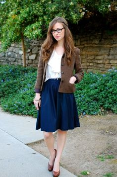 Like the blazer and skirt combination especially in this one