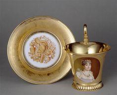 Marie Victoire Jaquotot Cup and Saucer Chateau De Malmaison, La Malmaison, Japanese Porcelain, China Porcelain, Porcelain Tiles, Tea Cup Set, Tea Cup Saucer, Vintage China, Vintage Tea