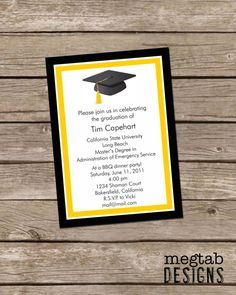 Diy graduation invitation party ideas pinterest graduation graduation annoucement graduation party invitations custom filmwisefo
