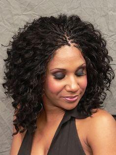 Micro braided hair styles for black women