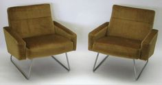 Armchairs. Designed by John and Sylvia Reid for stag c1959 (image concretebox)