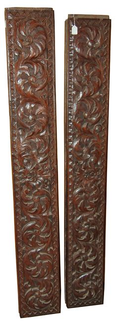 Antique Panels from Lampung Region, jackfruit..........another set of this style