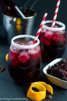 Sorrel - A Caribbean drink that's embraced during the festive period made from the sorrel plant infused with spices, ginger and sweetener.