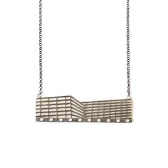 Rosa Tejada Cubes stars | necklace | 2016 | silver, cubic zirconia | 75x20x5mm
