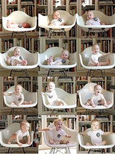 Month-by-Month Baby Photo Ideas Arts Crafts