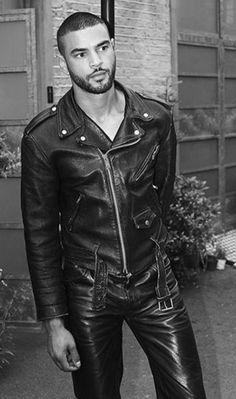 Black Leather Biker Jacket, Leather Men, Leather Pants, Sexy Men, Guys, Confident, Jackets, Cook, Garden