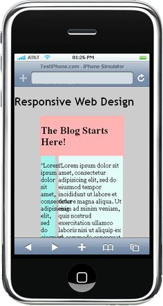 Responsive Design Media Queries example (obviously not the finished product but you turn this into a cell-phone friendly layout)