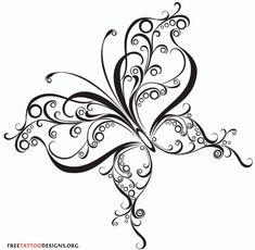 60 Butterfly Tattoos Feminine And Tribal Tattoo Designs Tribal Butterfly Tattoo, Butterfly Drawing, Butterfly Tattoo Designs, Tribal Tattoos, Butterfly Design, Tatoo 3d, Et Tattoo, Tattoo Blog, Zentangle