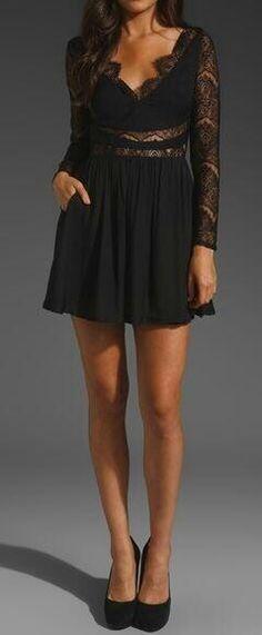 Vestido negro. Date.Night.