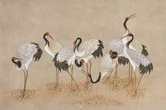 Lotus Painting, China Painting, Silk Painting, Clown Paintings, Japanese Bird, Japanese Drawings, China Art, Korean Art, Japanese Painting