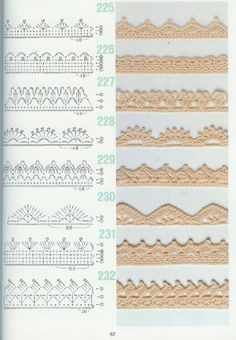 Pattern diagram for pretty crochet edging. Neat idea for dish-cloths, tea-towels, coasters and + Crochet Free Edging Patterns You Should KnowCrochet Beautiful Boarderscould Be PutAdd Borders to your blankets and afghans!Crochet Symbols a Crochet Border Patterns, Crochet Lace Edging, Crochet Diagram, Lace Patterns, Crochet Chart, Crochet Doilies, Crochet Flowers, Crochet Edgings, Filet Crochet