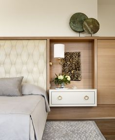 built in headboard/cabinet