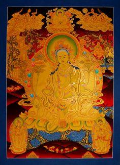 Grüne Tara, ein Traumthangkas - Die Grüne Tara, ein Traumthangka. Wertvolle buddhistische Thangkas, Statuen und Mandalas. Marvelous buddhist Statues, Mandala and Thangka from Snow Lion.