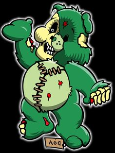 zombie care bear 2 by ~4unt3r on deviantART