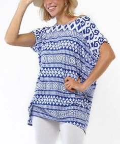 Another great find on #zulily! Blue Fair Isle Sita Tunic by Joyous & Free #zulilyfinds