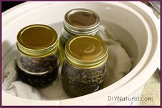 Herbal Oil Infusion  slow cooker instructions