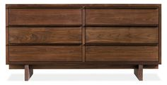 Solid Walnut Six Drawer Dresser (just enough mid-century flair, just enough modern lines)