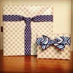 パパへ?彼氏へ?男性へのプレゼントに最適なリボンラッピングの方法 ... 蝶ネクタイもできる!