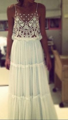 this is the dress I want! So boho chic. Boho Chic, Hippie Chic, Hippie Masa, Happy Hippie, Modern Hippie, White Lace Maxi Dress, White Maxi, Sheer Dress, Sequin Dress