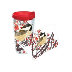 Garden Party Chickadee 16 Oz. Tumbler with Lid