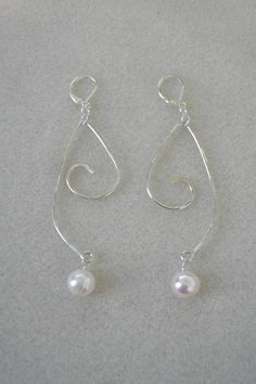 what wire to use for wire wrapped earrings | ... Silver Wire Spiral Earrings Project - Making-Jewelry.com Network