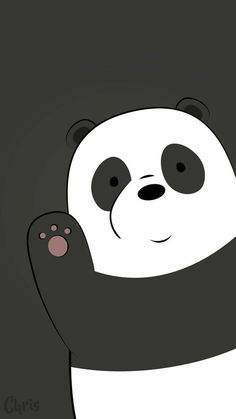 Best of We Bare Bears Wallpaper - Get super charming and attractive ideas related of We Bare Bears Cartoon Images on ThePhotocrafters. You'll find a spectacular selection of HD wallpapers and backgrounds. Cute Panda Wallpaper, Bear Wallpaper, Cute Wallpaper Backgrounds, Wallpaper Iphone Cute, Disney Wallpaper, White Wallpaper, Wallpaper Wallpapers, Galaxy Wallpaper, Hello Wallpaper