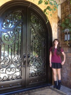 Iron Entry Doors Mediterranean *** You can find more details by visiting the image link. Arch Gate, Door Gate, Tuscan Style, Mediterranean Style, Grill Gate Design, Interior Design Advice, Inexpensive Home Decor, Entry Doors, Door Design
