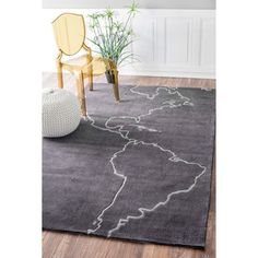 nuLOOM Handmade Kids Map Grey Rug (5' x 8') | Overstock.com Shopping - The Best Deals on 5x8 - 6x9 Rugs